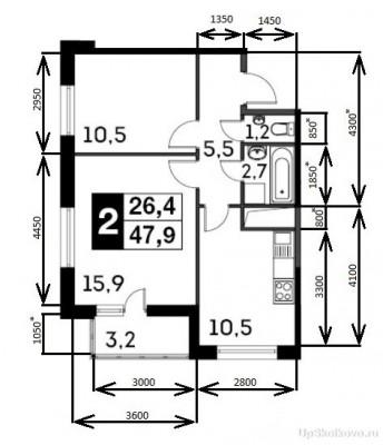 10 корпус. Разговоры соседей. - Теоретические размеры квартиры.jpg
